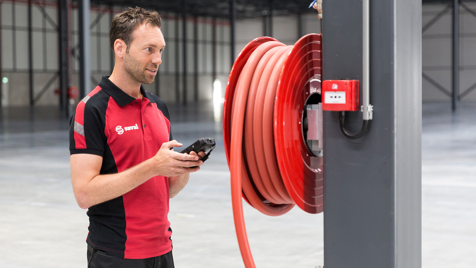 Fire hose reel maintenance