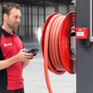 Onderhoud brandslanghaspels