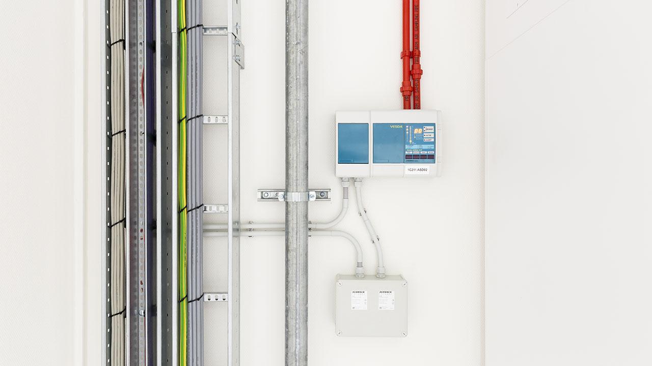 Een state-of-the-art datacenter met hoog gevoelige branddetectie en brandblusvoorzieningen 2
