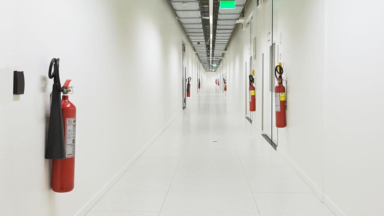 Een state-of-the-art datacenter met hoog gevoelige branddetectie en brandblusvoorzieningen 3