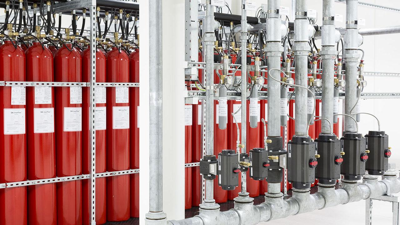 Een state-of-the-art datacenter met hoog gevoelige branddetectie en brandblusvoorzieningen 4