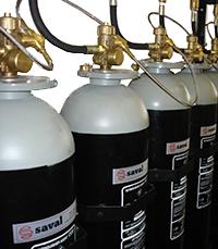 CO2 extinguishing gas