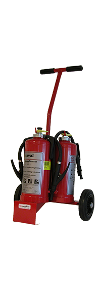 Fire extinguisher caddy