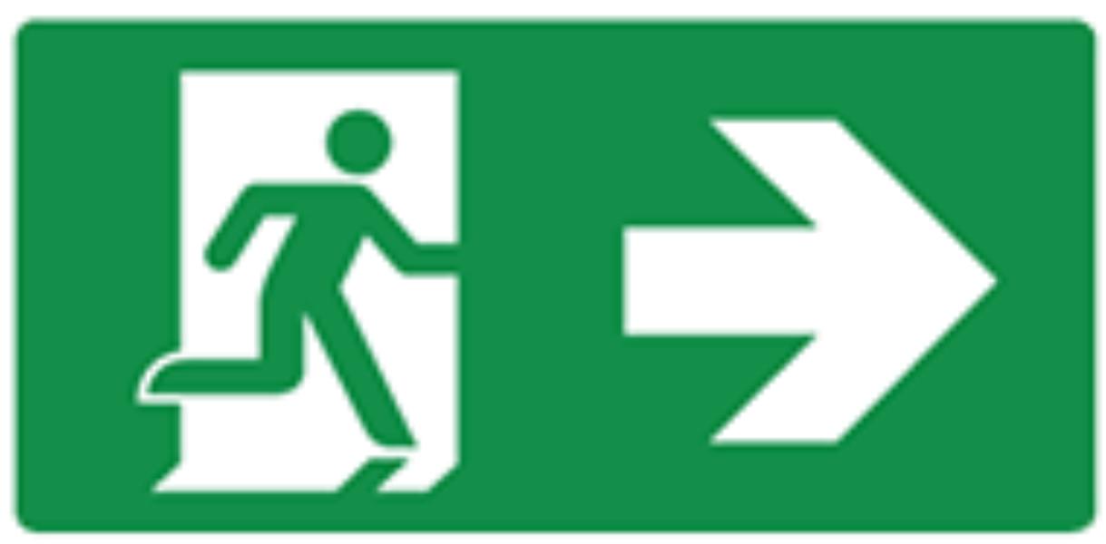 Pictogram vluchtweg rechts