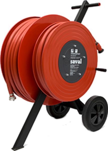 Wheeled hose reel