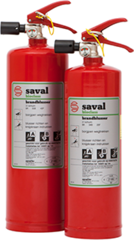 Compact BC-ABF foam extinguisher