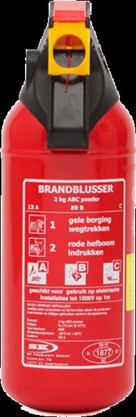 P2P compact powder extinguisher