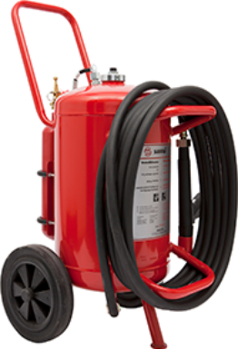 Wheeled P drypowder extinguisher