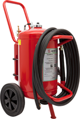 Wheeled D foam extinguisher
