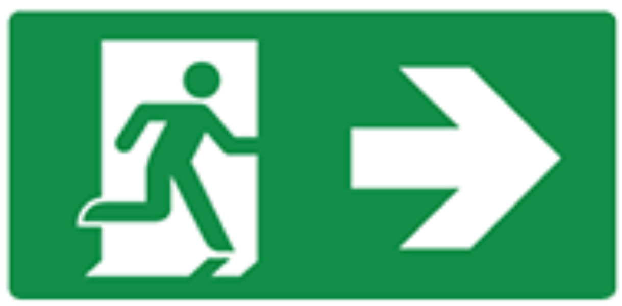 Pictogram escape route right