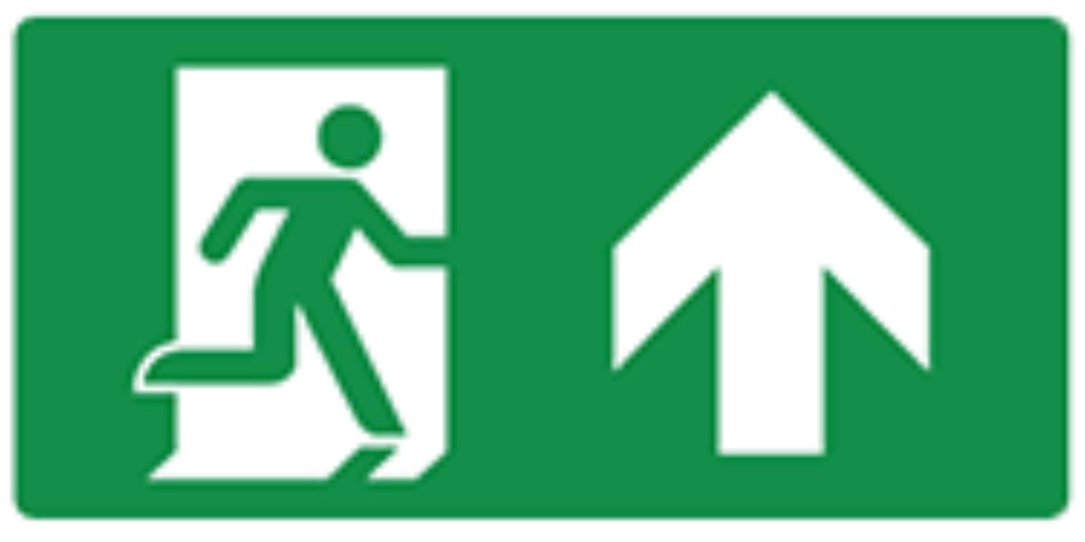 Pictogram escape route straight ahead