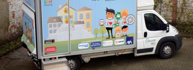 Fire Safety Truck voor Oscare vzw