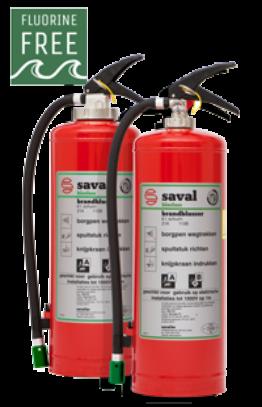 Fluorine-free F3 foam extinguisher