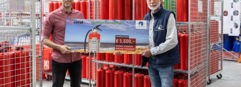 Uitreiking Cheque Sea First Foundation